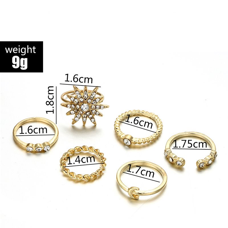 Alloy European Anniversary Gift Women's Rings Set