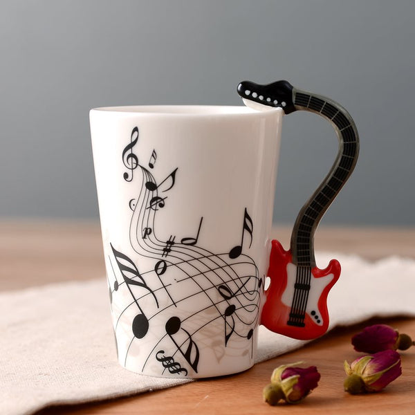 Wooden Guitar Coffee Music Mug Gifts