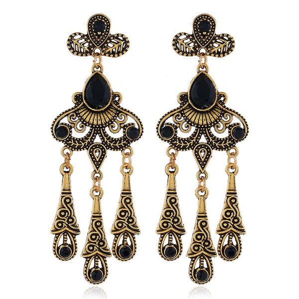 Alloy Hollow Out Korean Gift Earrings