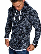 Hooded Lace Up Slim Men's Long Sleeve Sweater