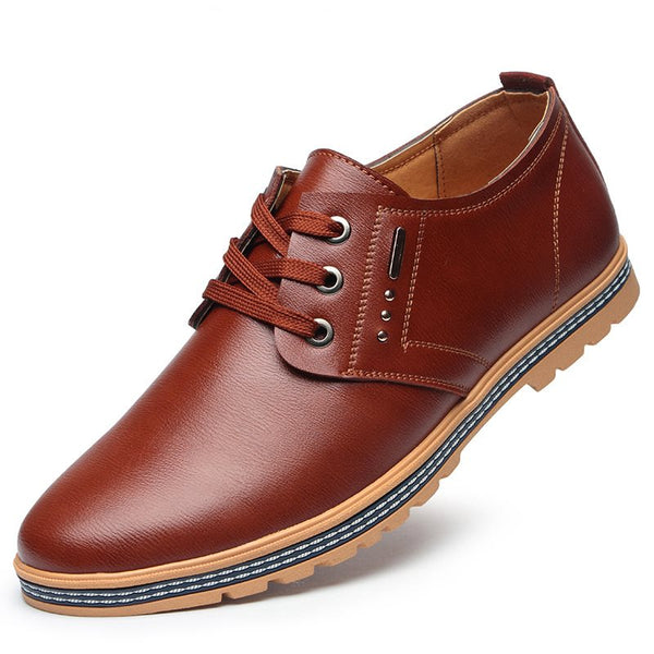 Professional PU Lace-Up Low-Cut Men's Shoes