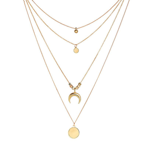 European E-Plating Pendant Necklace Female Necklaces
