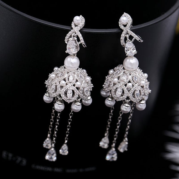 European Diamante Zircon Prom Boucles D'Oreilles