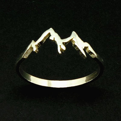 Size 6 7 8 9 10 Fashion Unisex Women Men Mountain Shape Finger Rings Titanium Jewelry Creative Geometry Gifts