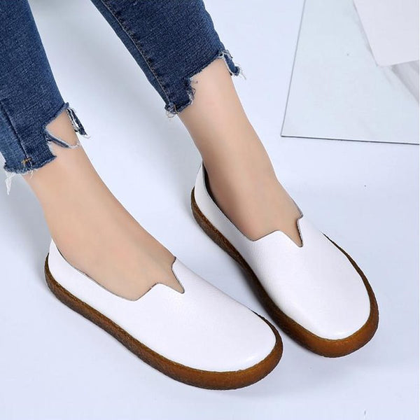 Slip-On Flat Avec Toe Vintage Chaussures Casual Casual