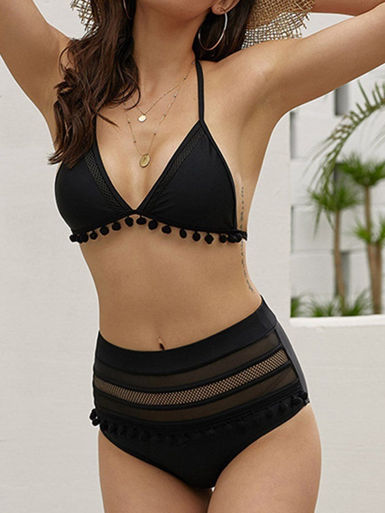 Sexy Tankini Set Patchwork Swimwear