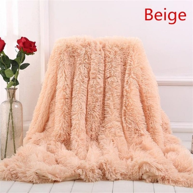 2018 New 13 Colors Super Soft Coperte per Letti Shaggy Faux Fur Blanket Bedding Christmas Gift