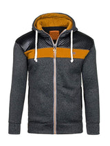 Cardigan Color Block Patchwork Spring Slim Hoodies