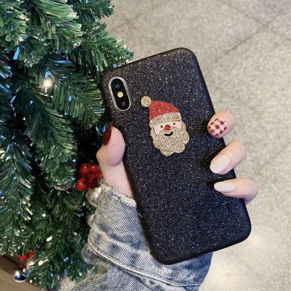 Christmas Decoration Sequins Mobile Phone Shell  Iphone Case Free Shipping