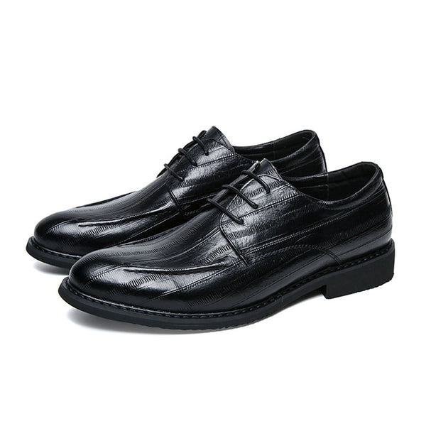 All Match Lace-Up Plain Classic Men's Shoes