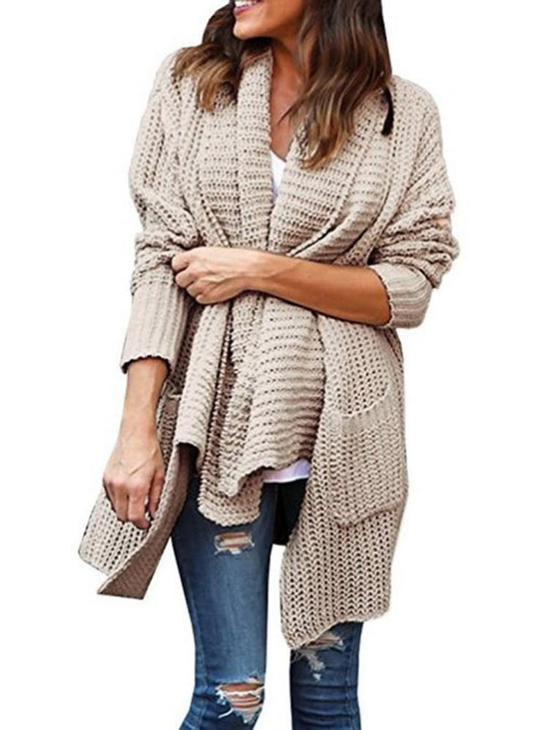 Regular Thick Long Sleeve Lapel Sweater