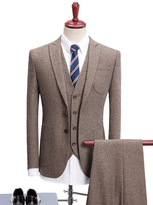 Vest Formal Single-Breasted Dress Suit