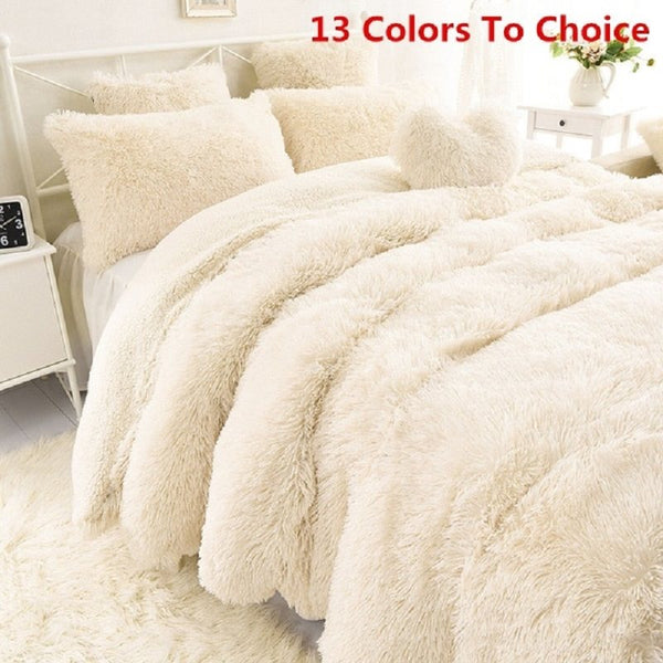2019 New 13 Colors Super Soft Blankets for Beds Shaggy Faux Fur Blanket Bedding Christmas Gift