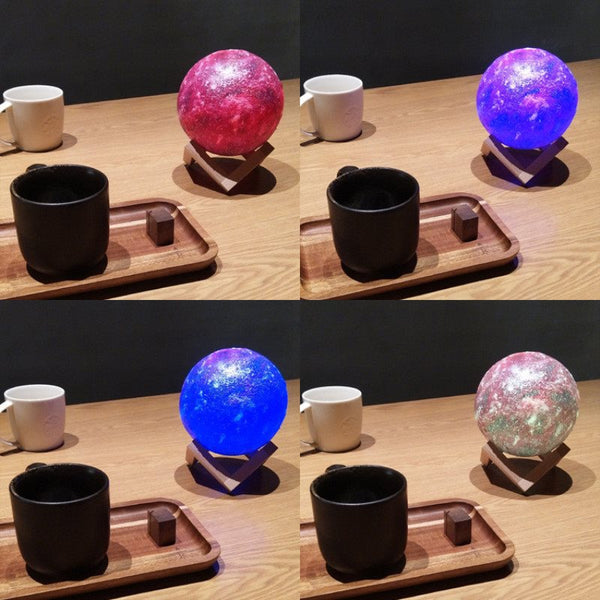 3D LED Peint le ciel étoilé Sky Night Light Commutateur tactile / Télécommande Changeant de couleur Magical Galaxy USB LED Moon Night Light