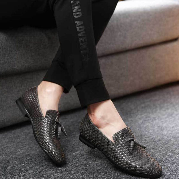 Plain Slip-On Low-Cut Upper PU Round Toe Thin Shoes
