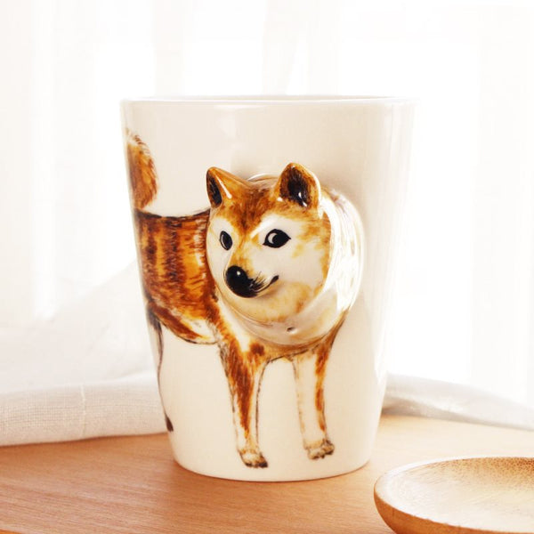 Lovely 3D Animal Ceramic Hand Mug