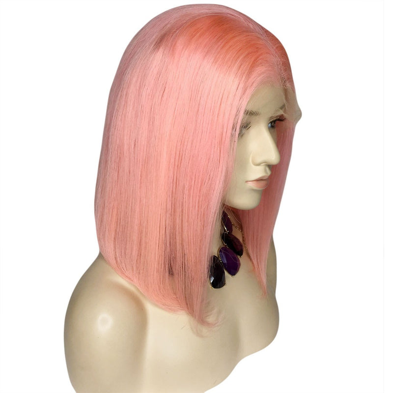 Lace Front Cap Human Hair Women Straight 130% Wigs