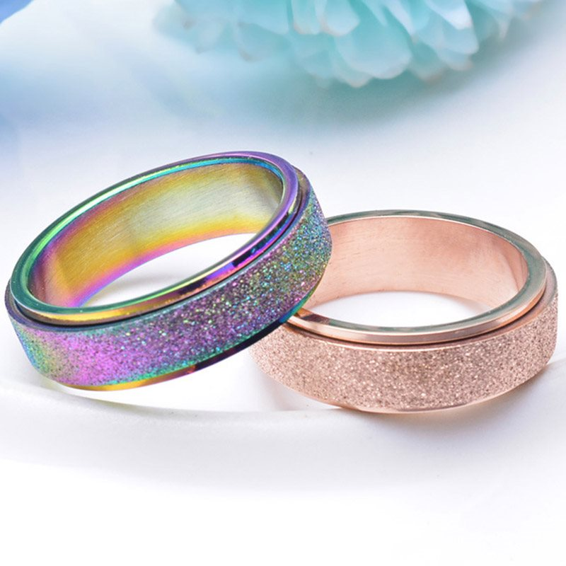 E-Plating Titanium Steel Romantic Party Anillos