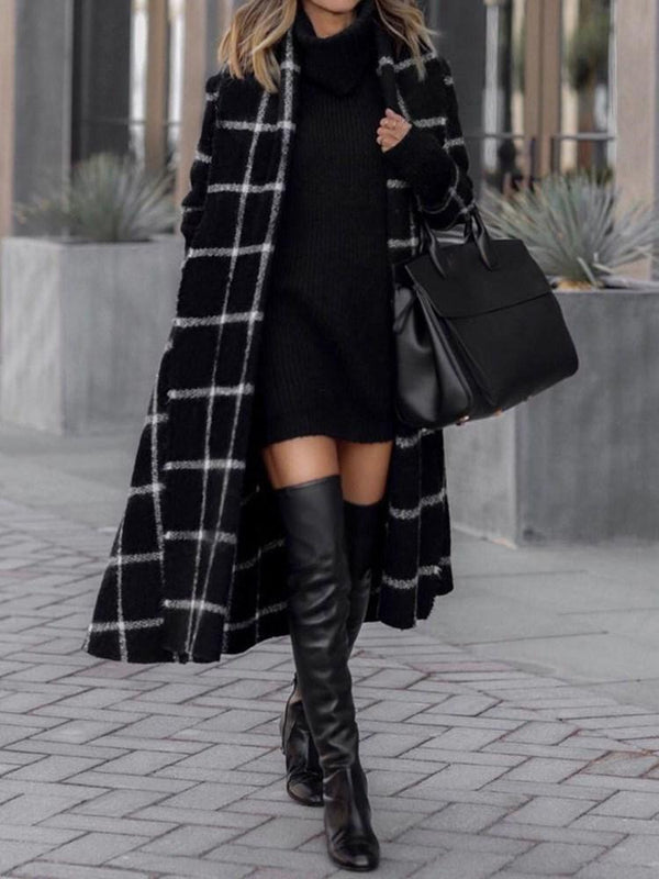 Loose Single-Breasted Long Winter Overcoat