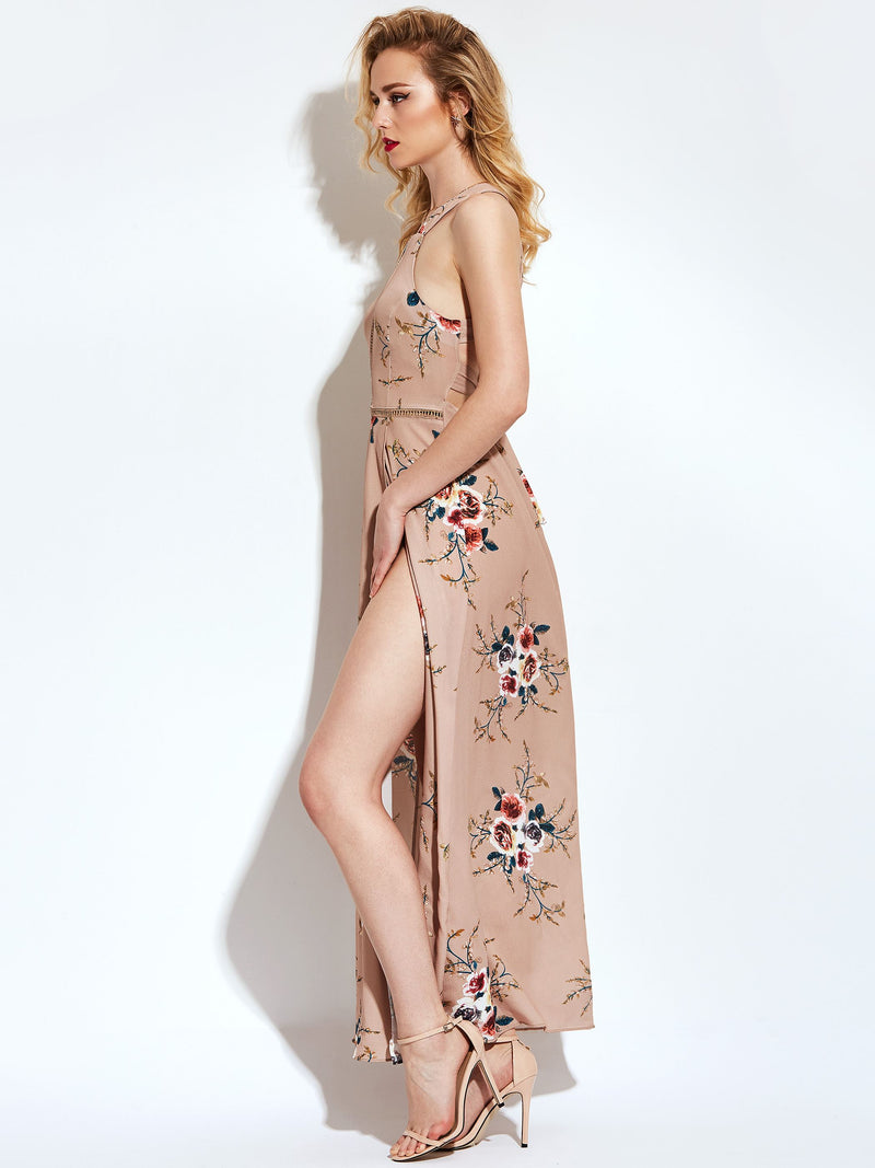 Ankle-Length Sleeveless Print Beach Boho Dresses