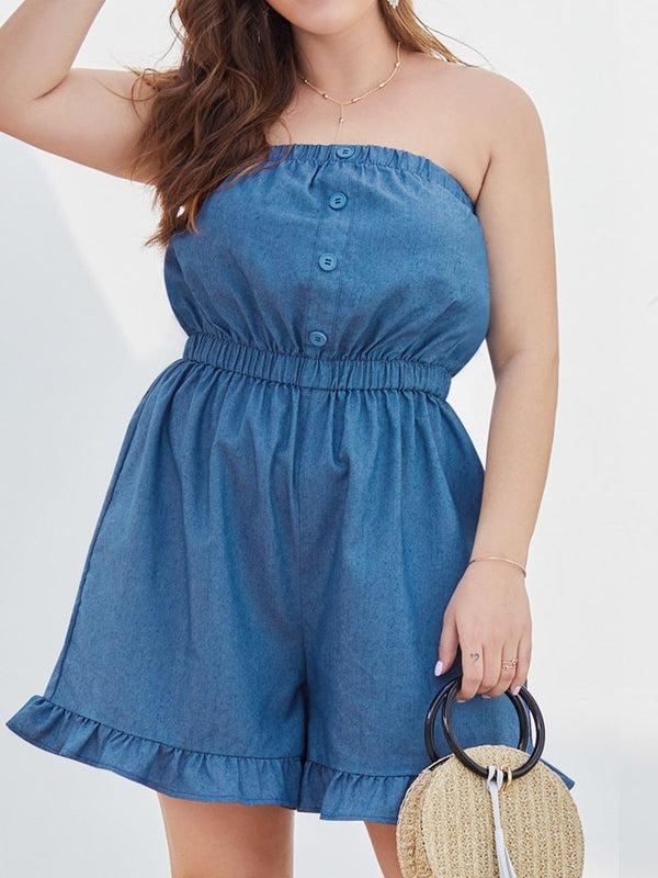 Western Shorts Loose Jumpsuit