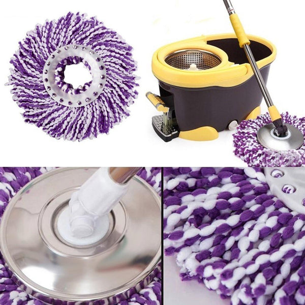 New Practical Magic 360 Degree Mop Head Easy Magic Floor Mop Microfiber Spin Spinning Rotating Head