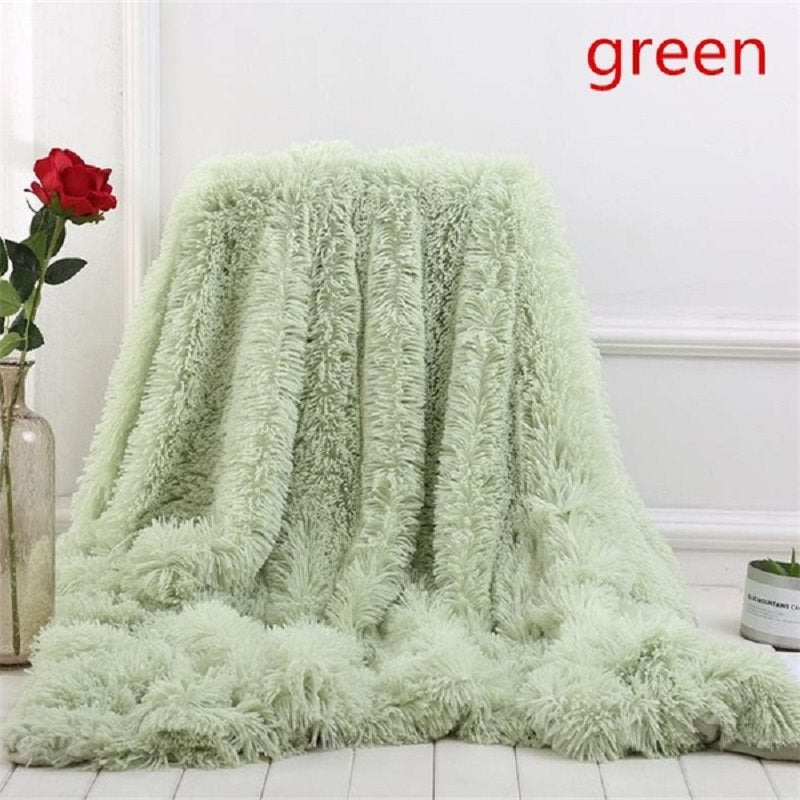 2019 New 13 Colors Super Soft Coperte per Letti Shaggy Faux Fur Blanket Bedding Christmas Gift