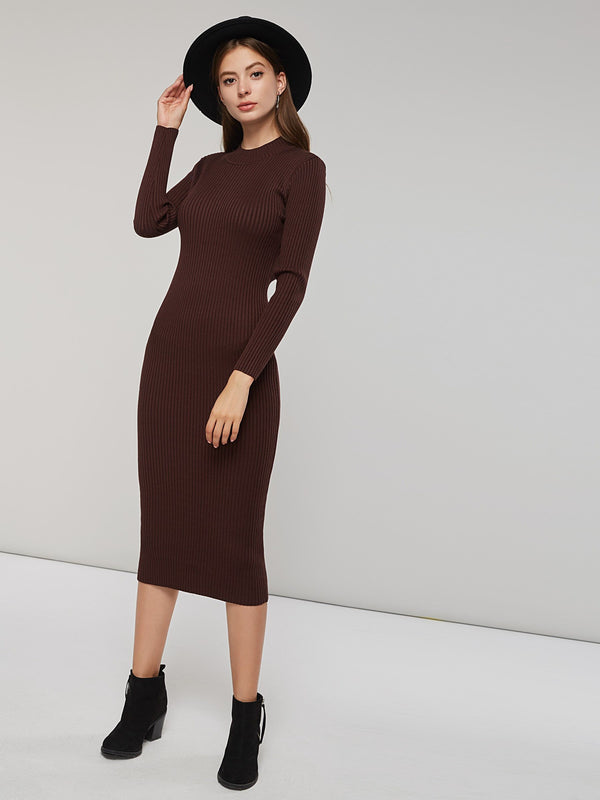 Long Sleeve Ankle-Length Women's Sweater Dress