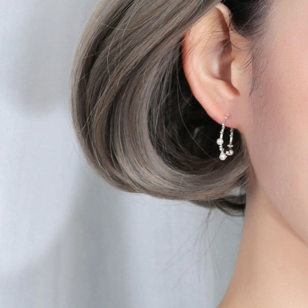 Girl's Fashion Silver Gift Earrings