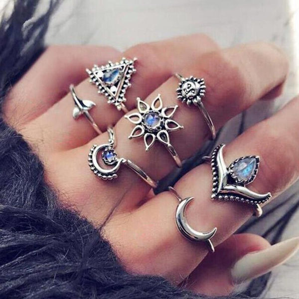 Bohemian E-Plating Alloy Birthday Rings