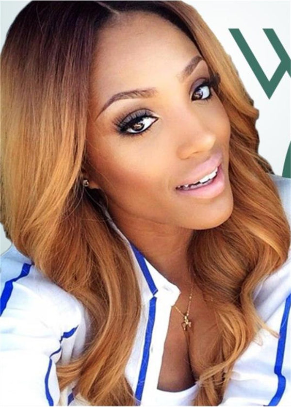 Wavy Women Lace Front Cap Synthetic Hair 120% Wigs