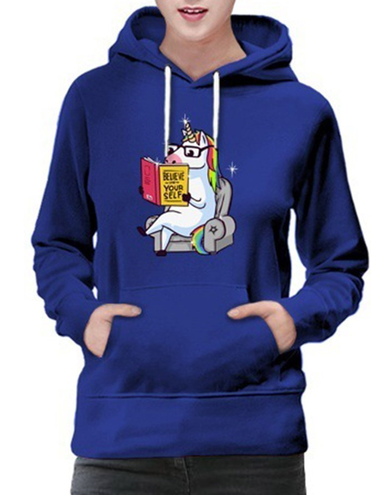 Felpa con cappuccio a maniche lunghe standard regular per Pocket Cartoon
