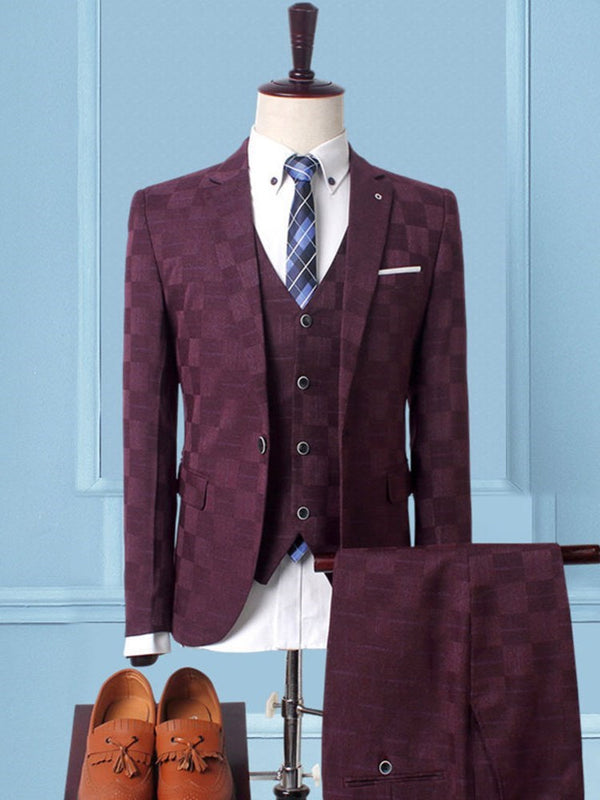 One Button Pants Formal Dress Suit