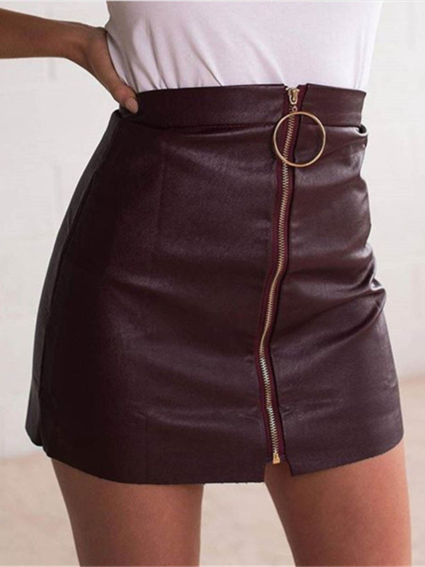 Patchwork Mini Skirt Bodycon Mid Waist Skirt