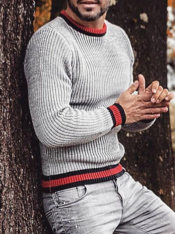 Standard Color Block Casual Winter Sweater