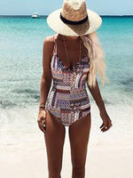 Print Sexy One Piece Swimwear