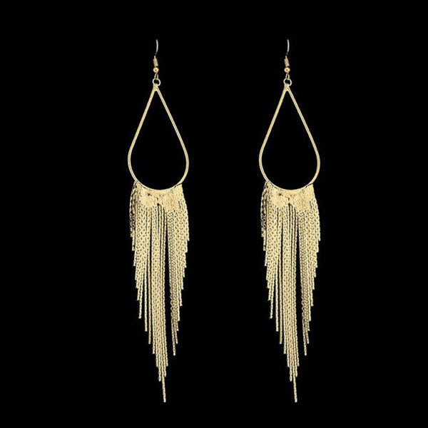 Alloy Tassel Plain Holiday Earrings