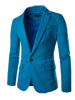 Notched Lapel Casual Slim leisure Suit
