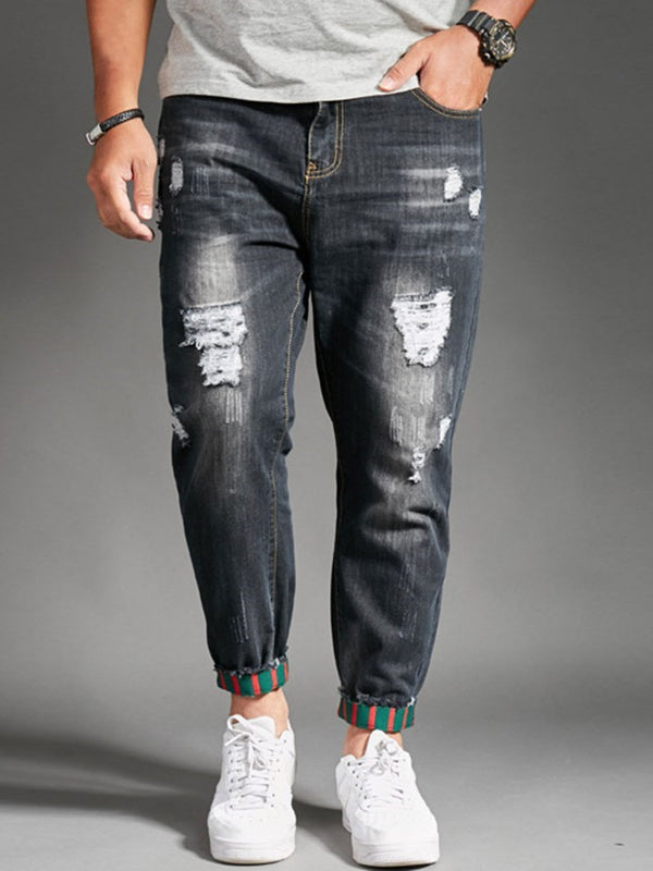 Pleated Straight Korean Mid Waist Jeans
