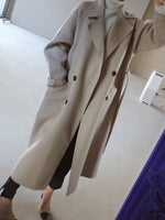 Loose Regular Double-Breasted Notched Lapel Winter Overcoat