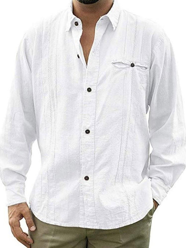 Lapel European Button Einreiher Loose Shirt
