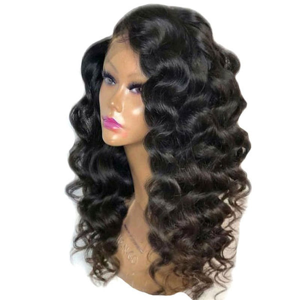 Women Synthetic Hair Lace Front Cap Big Curly 24 Inches Wigs