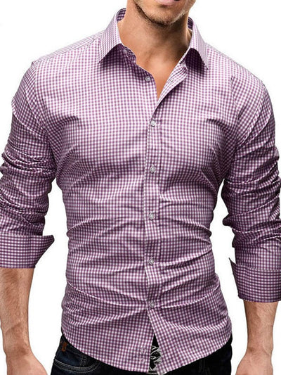 Lapel Casual Plaid Single-Breasted Spring Shirt