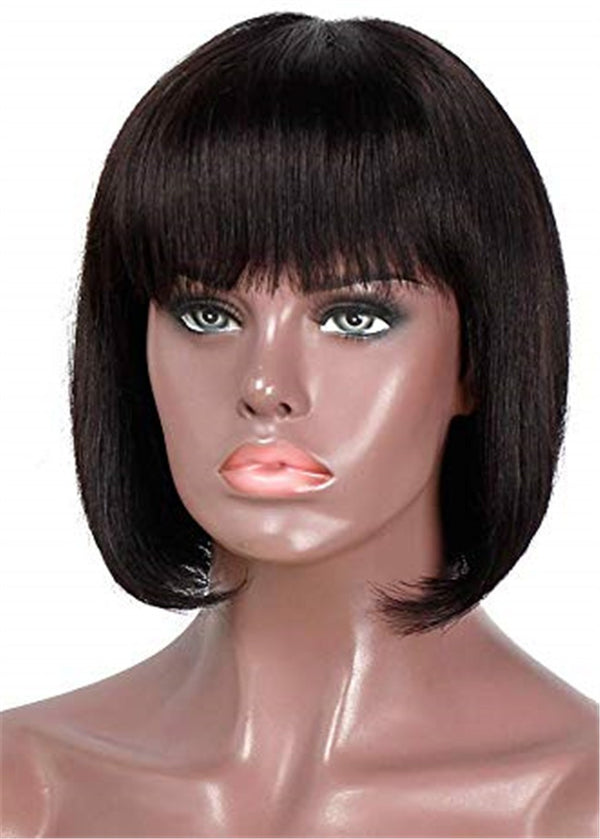 Synthetic Hair Women Lace Front Cap Natural Straight 14 Inches Wigs