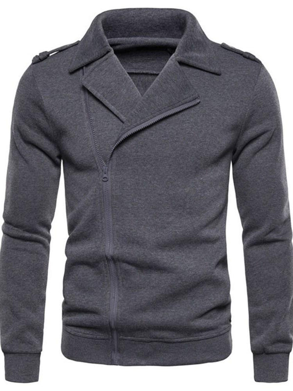 Cardigan Plain Patchwork Casual Slim Hoodies