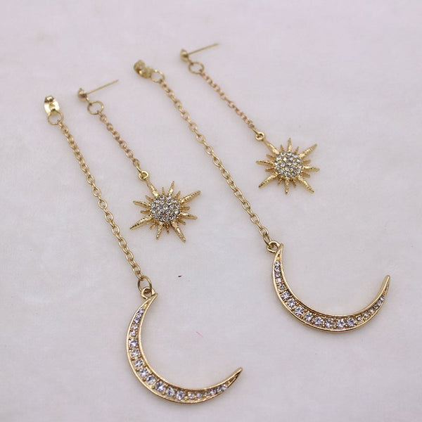 Legierung Diamante Star Gift Earrings