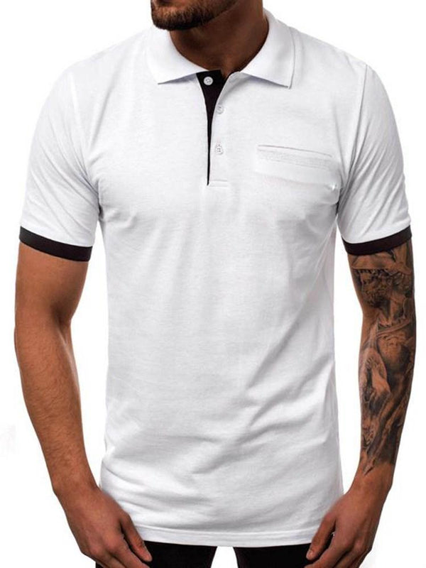 Casual Button Polo Neck Polo Shirt
