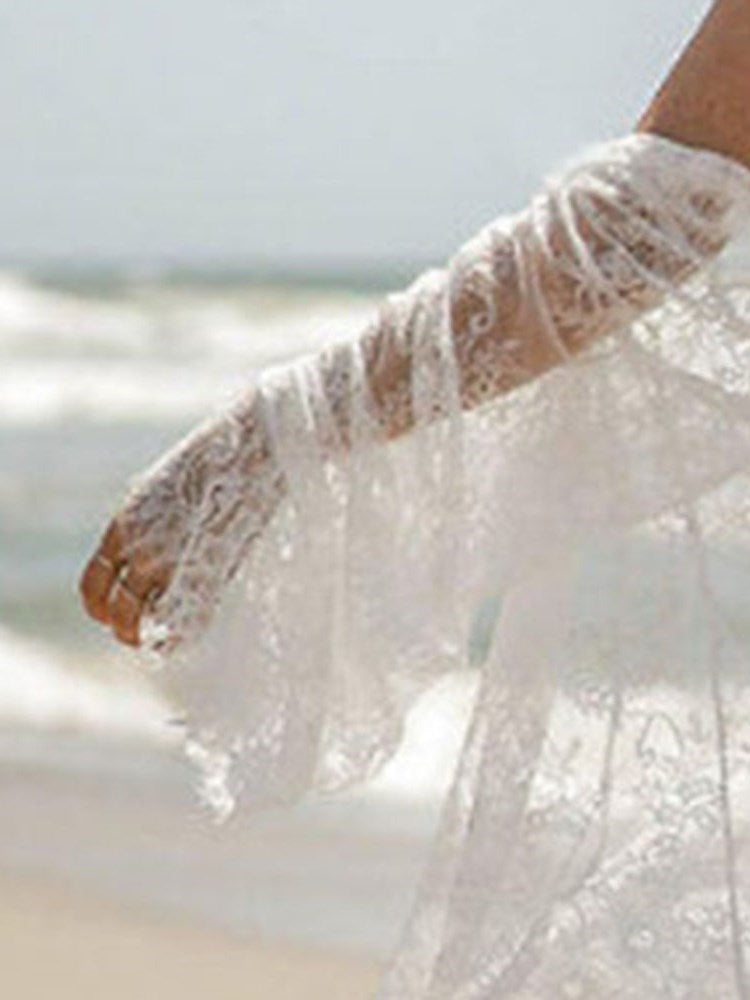 Wrapped Lace Beach Look Beach Tops