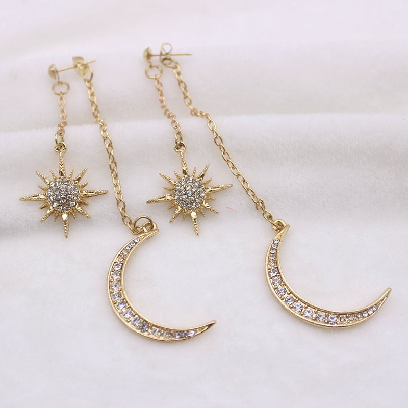 Alloy Diamante Star Gift Earrings