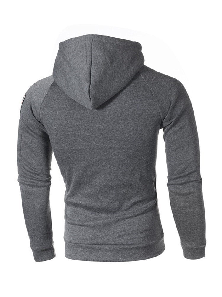 Appliques Plain Pullover Hooded Spring Hoodies
